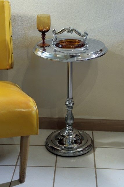 Cigar Lounge Standing Ashtray And Side Table Vari 233