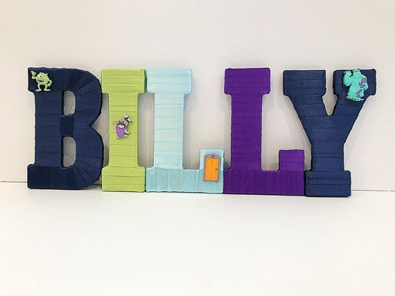 Monsters Inc Name Set Monsters Inc Party Boy Baby Shower
