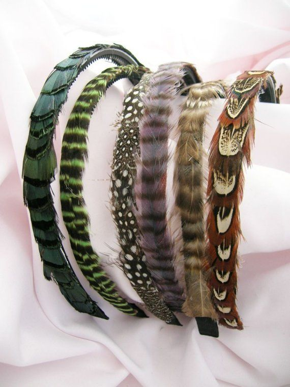 I want all these feather headbands.