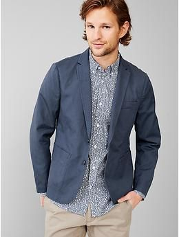 Linen-cotton blazer $89.95 | To Watch | Pinterest | Cotton blazer