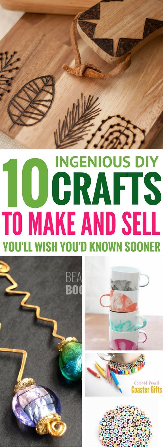 Easy Craft Ideas To Make And Sell - These are some of the BEST ways to make money! They include gorgeous diy projects that will surely sell out! Number 3 and 5 are my absolute favorites!!