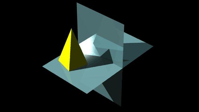 sombra de pirâmide