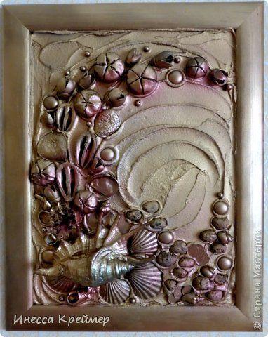Картина панно рисунок Поделка изделие Ассамбляж ТЕРРА Материал природный фото 1