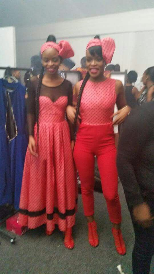 hlelo and ntando in our gorgeous sold out red heels