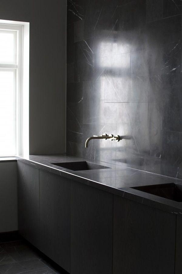 Kitchen Space Copenhagenmodern Designinterior Design Bath Vanity Marble Wall