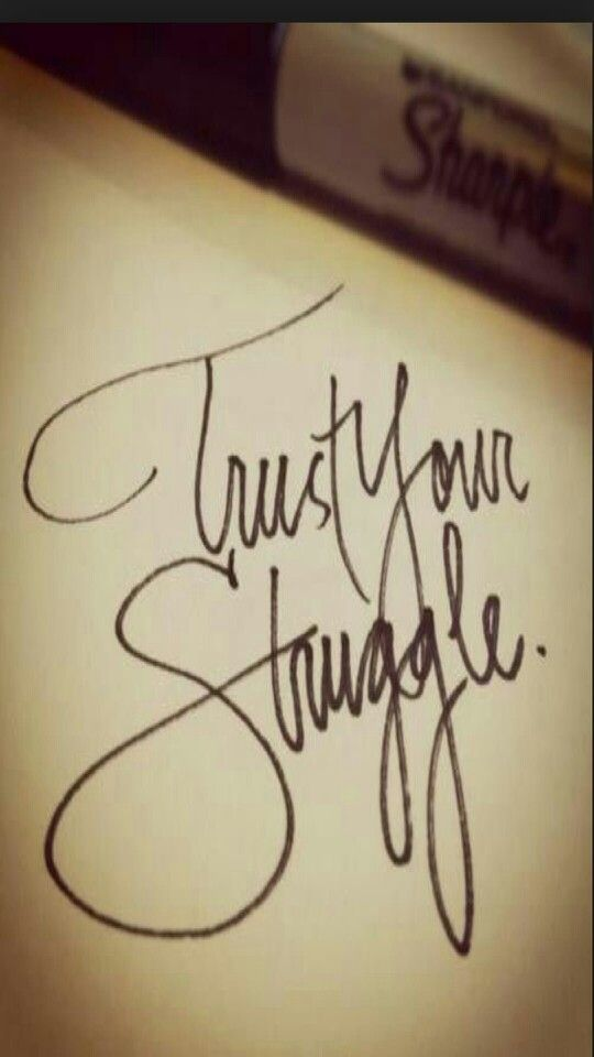TRUST YOUR STRUGGLE. IGGY AZALEA TATTOO