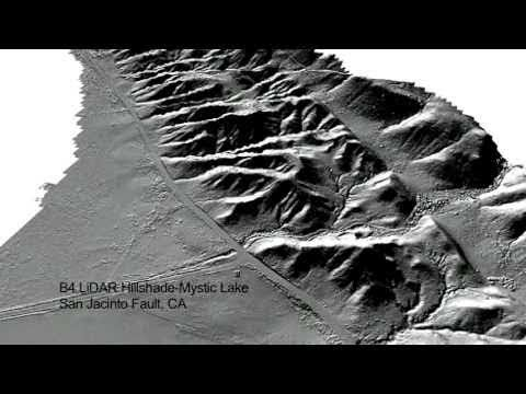 Use of lidar at mystic lake site along the San Jacinto fault.  This is a video