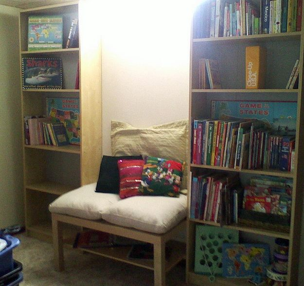 11 best images about reading nooks on pinterest mattress for Reading nook cushion