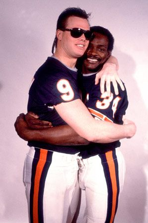 "chicago bears superbowl team -jim mcmahon, walter payton. The ""punky qb"" and ""sweetness""."