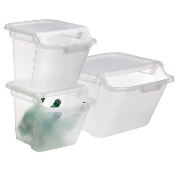 The Container Store  Stacking Recycling & Storage Bins