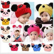 Корейские дети милые животное панда шлема зимы шапки махрово cap, Ребенок детские шапки
