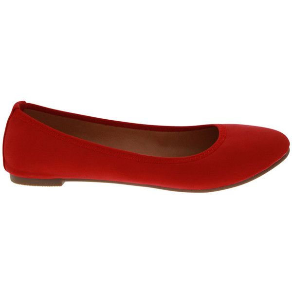 Angelina Women's Epson 1 - Red - size 5.5 (£31) ❤ liked on Polyvore featuring shoes, flats, red, red shoes, red low heel shoes, ballerina shoes, red flats and red platform shoes