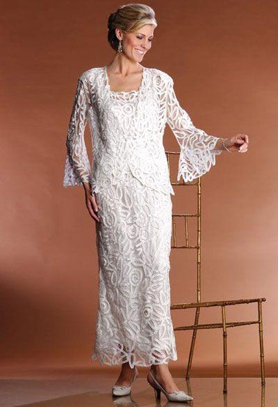 Popular Soulmates Silk Embroidered pc Evening Jacket Dress Set D at frenchnovelty Anniversary Dressth Wedding
