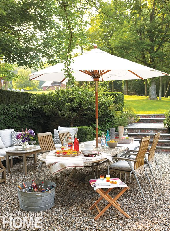 New Preston Country Home Outdoor Eating Area