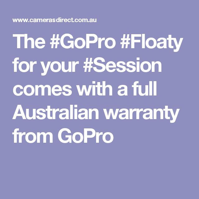 The #GoPro #Floaty for your #Session comes with a full Australian warranty from GoPro