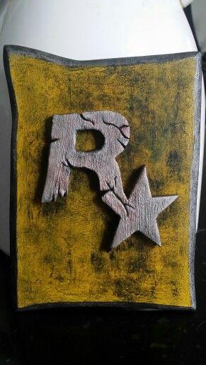 Sculpture cadre rockstar game pour un fan.