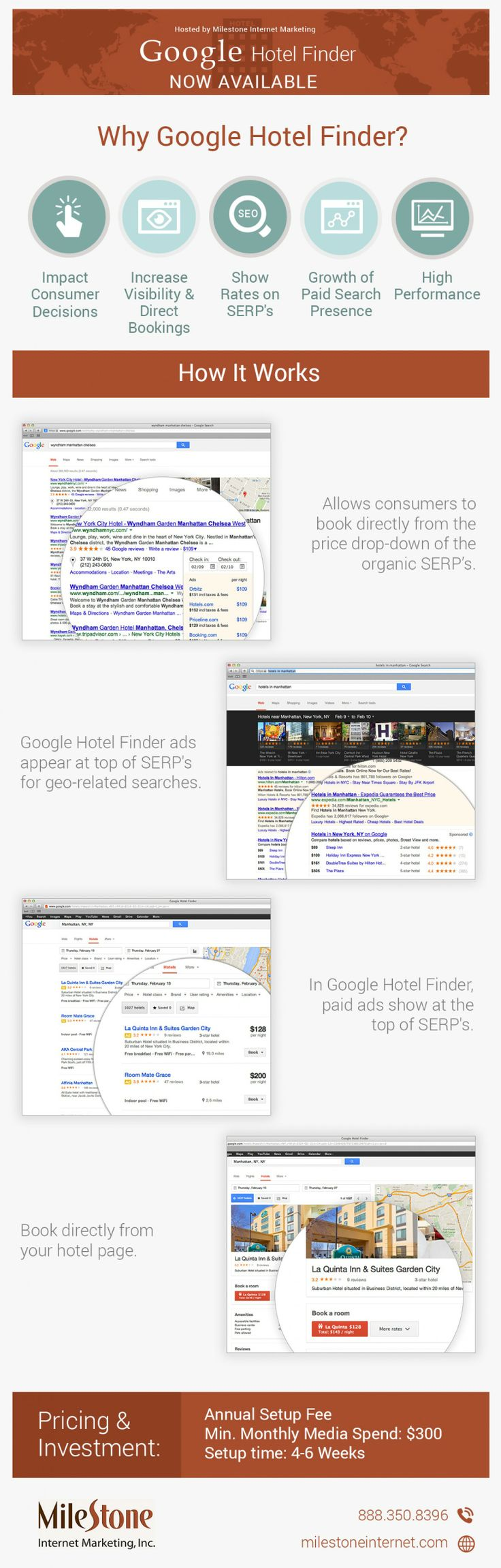 Google Hotel Finder Now Available #infografía
