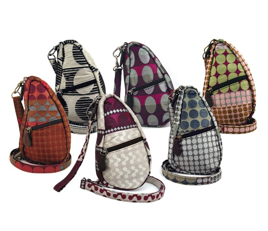 Margo Selby Healthy Back Bags. Collaboration between textile weaver/designer Margo Selby and Healthy Back Bags.