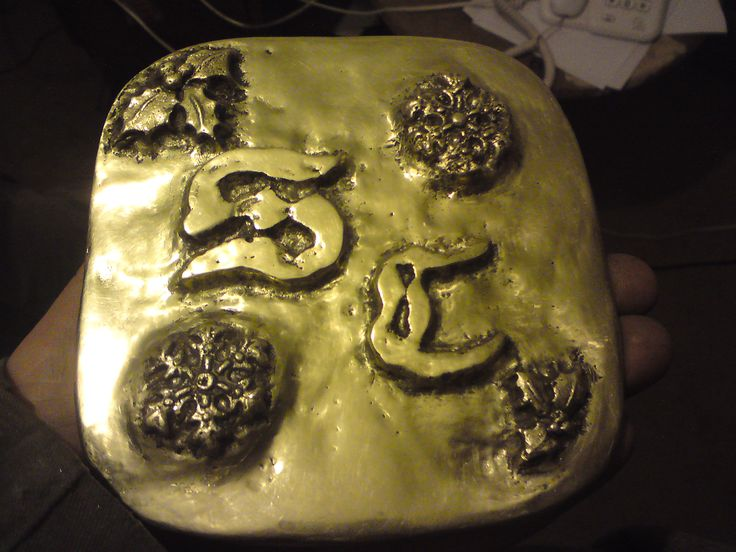 Mahoosive brass belt buckle for a certain festive someone!