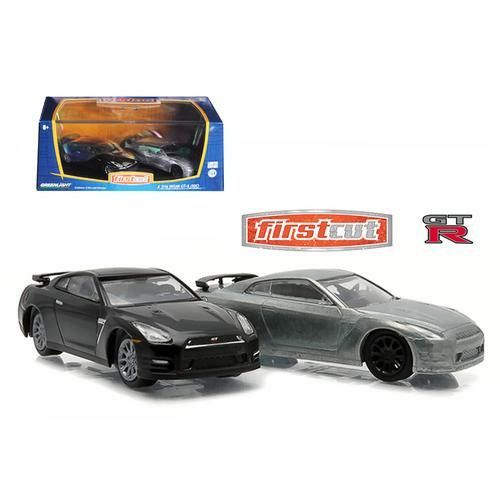 First Cut 2007-14 Nissan Skyline GT-R (R35) Hobby Only Exclusive 2 Cars Set 1/64 Diecast Model Cars by Greenlight