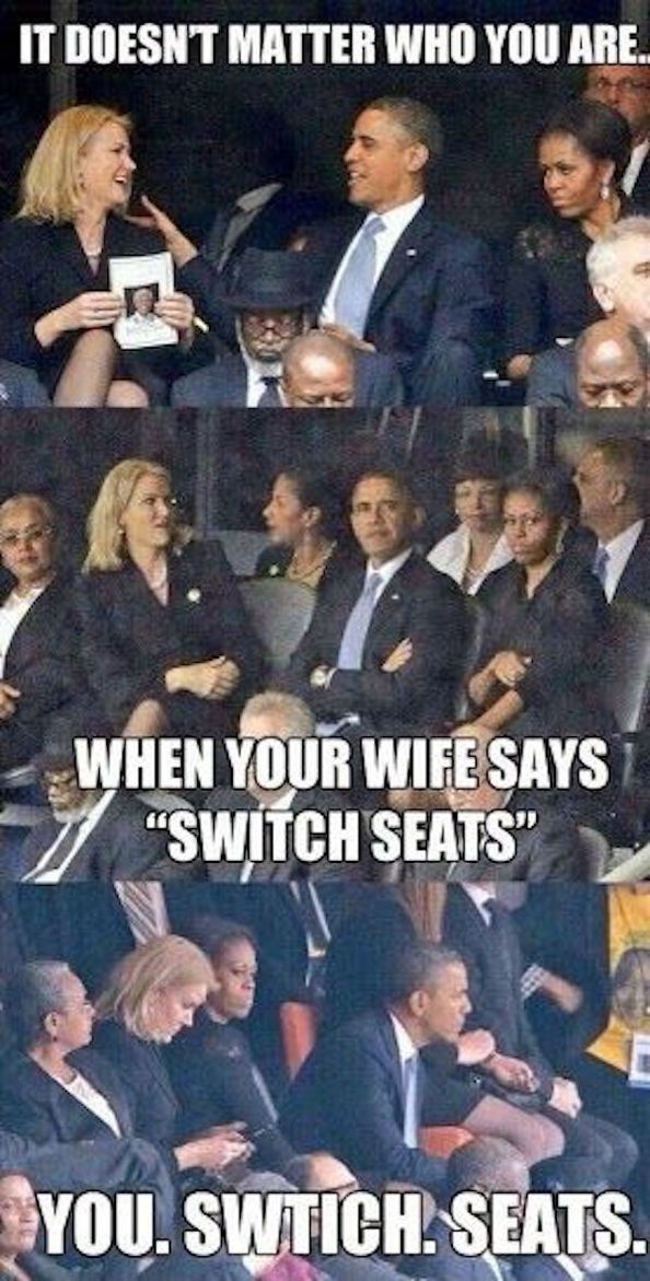 That is why they are still married! He knows who is the boss is.