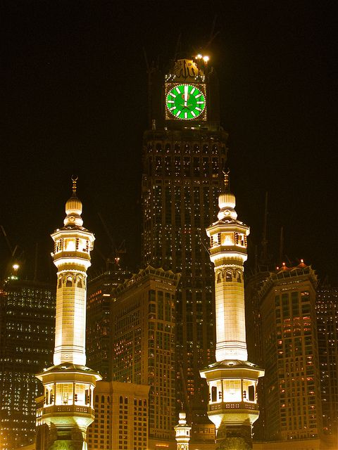 Makkah Clock Tower, Saudi Arabia. The place where everyone goes grocery shopping at night! <3