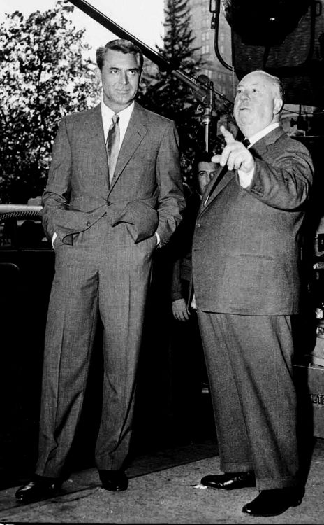 Cary Grant and Alfred Hitchcock Cary Grant's first role in an Alfred Hitchcock film was in Suspicion(1941) . He would later star in three more: Notorious (1946), To Catch a Thief (1955), and North by Northwest (1959).