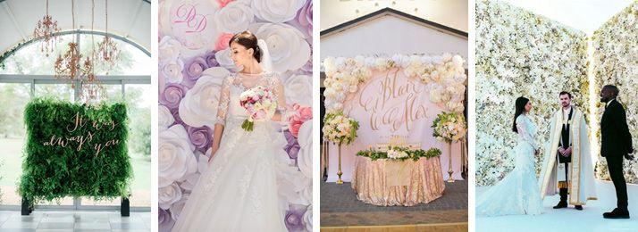 Ściana z żywych kwiatów lub ziół