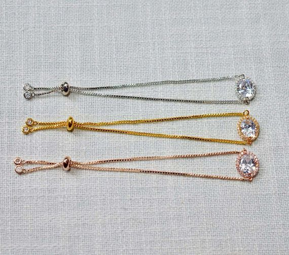 White Yellow or Rose Gold Handmade Oval Cut Halo Cubic
