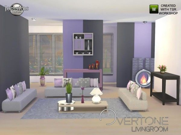 The Sims Resource Overtone Living Room By JomSims O 4 Downloads