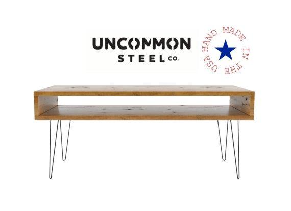 reclaimed wood desk computer desk hairpin desk solid wood
