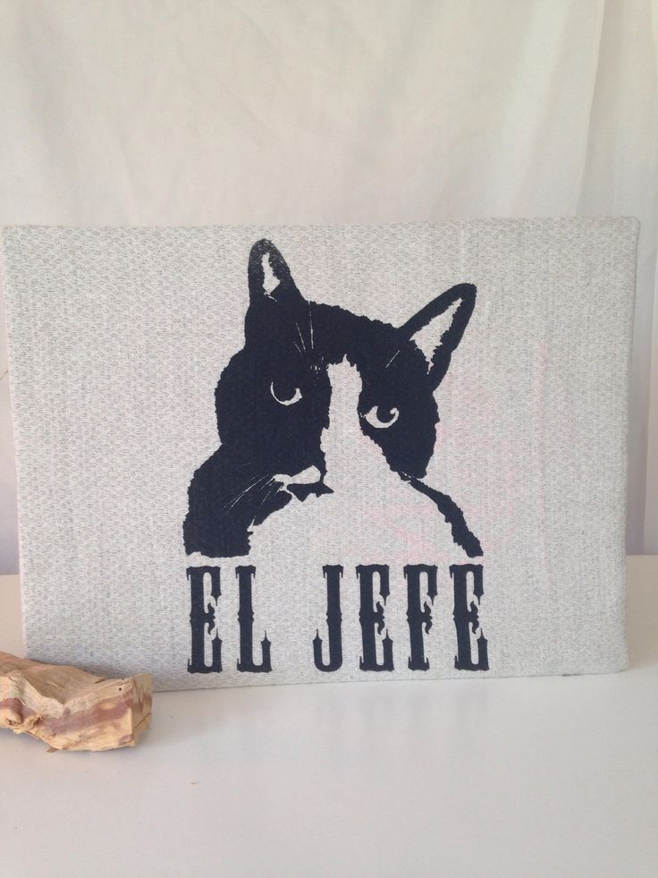 Excited to share the latest addition to my #etsy shop: El Jefe (The Boss): Original Mushpa + Mensa Design Hand Printed on Upcycled Fabric Mounted on Cardboard http://etsy.me/2BLokgv #art #printmaking #cat #eljefe #upcycledfabric #crazycatlady #recycledfabric #cotton