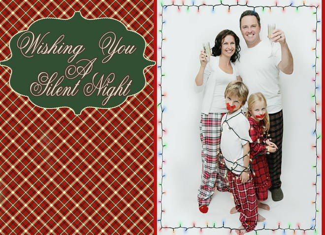 Wishing you a silent night fun family card fun family for Fun decorations for christmas