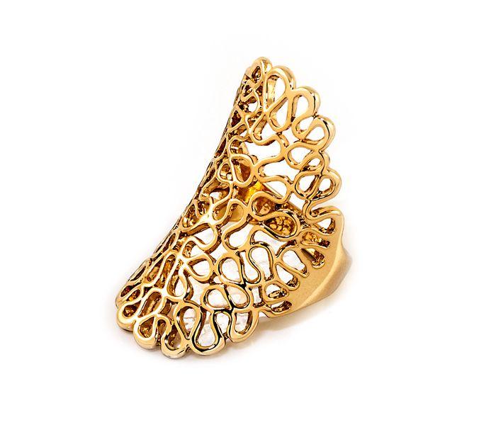 Bizsu Gyűrűk Lacy arany