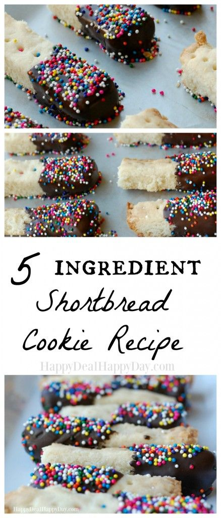 5 ingredient EASY Shortbread Cookie Recipe - this is an easy dessert using ingredients you probably have at your house anytime!  happydealhappyday.com