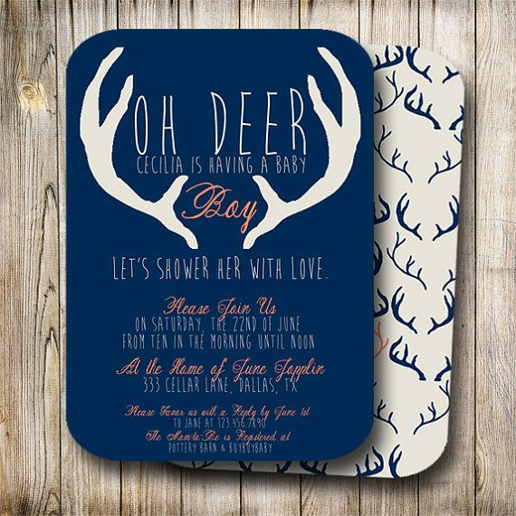 20 best woodland baby shower images on pinterest baby showers how do you make a boy shower cute yet manly introducing the oh deer baby boy shower invitation by oh be joyful creative cute and punny with a boyish filmwisefo Gallery