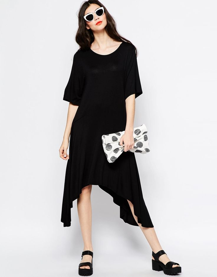 Immagine 4 di Monki Hanky Hem Festival T-Shirt Dress
