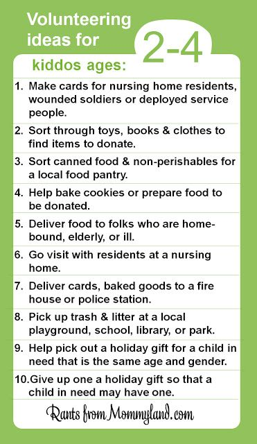 Great list of ideas of ways that Kids Can Volunteer (They Just Can't Clean Their Rooms)