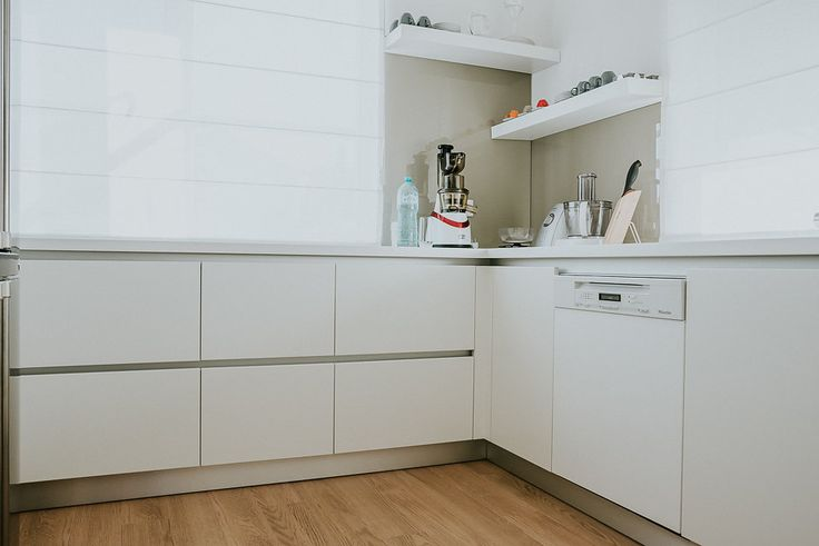 Kitchen  #mdfpainted #kitchen #white #modern #GolaSystem #drawers