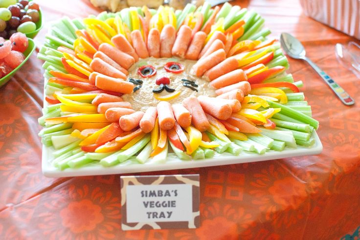 lion veggie tray
