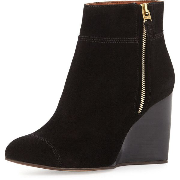 17 Best ideas about Black Wedge Ankle Boots on Pinterest | Cream ...