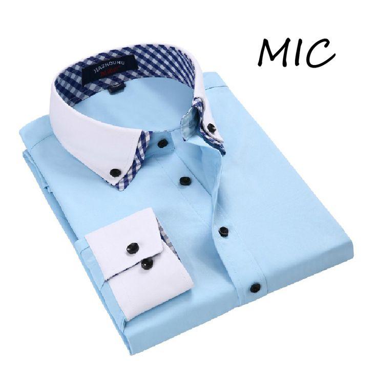 Hombre camisas casuales 2015 primavera otoño a cuadros de manga larga rayas doble capa botón - Buscar con Google