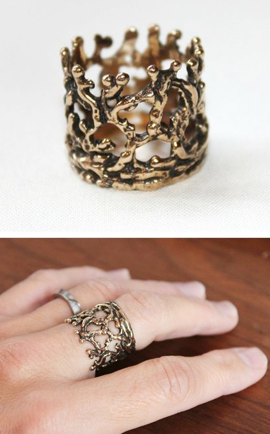 Coral Crown Ring