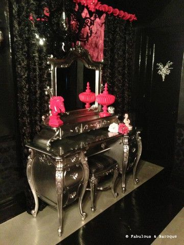 Fabulous & Rococo Dressing Table - Silver Leaf - Client Photo