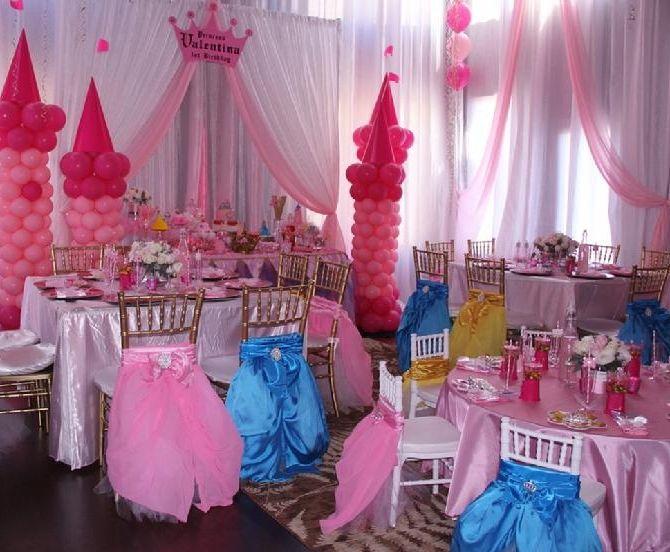 Prenses Temalı Doğum Günü Partisi