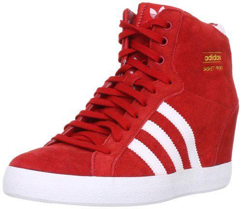 Zapatos adidas de plataforma rojos para mujer de tela - Zapateros de tela ...