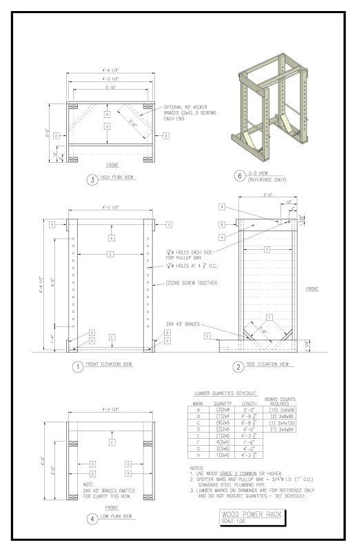 diy squat rack plans how to make a wooden pickaxe in