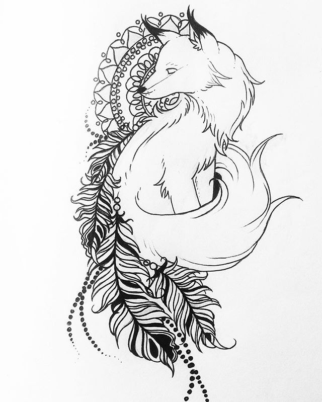 Drew the tattoo I wanted :) on my thigh I think, what do yall think? Follow my…