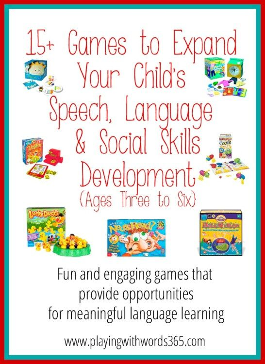 15+ Great Games for Speech, Language & Social Skills Development {ages 3-6}