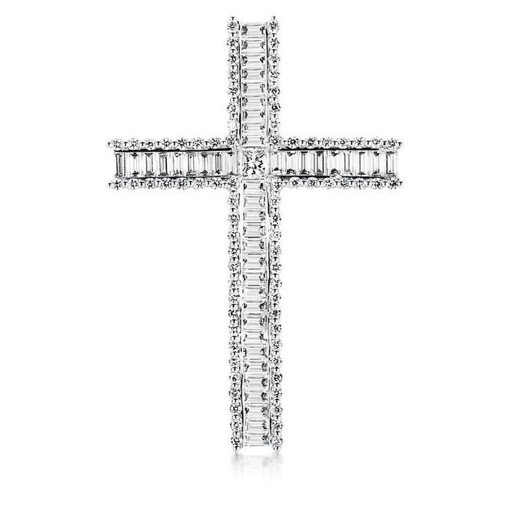 123 Diamonds Cross Pendant